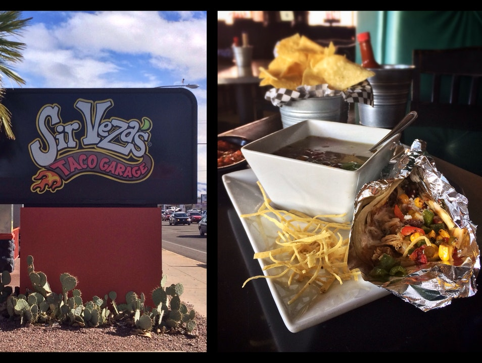 Get Your Fix of Mexican Fare at Sir Veza's Taco Garage Tucson Arizona United States