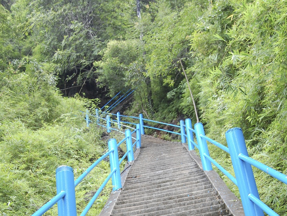Stair-stepping to Heaven in Krabi Pak Nam  Thailand