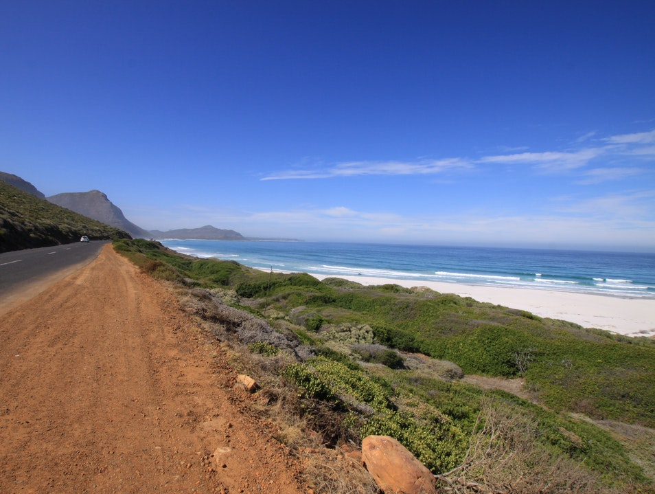 White sand right off the coast Cape Town  South Africa