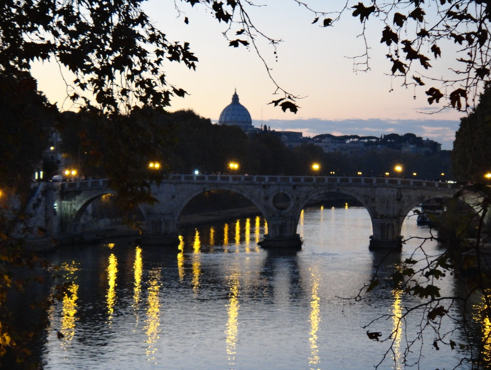 The Tiber at Dusk Rome  Italy