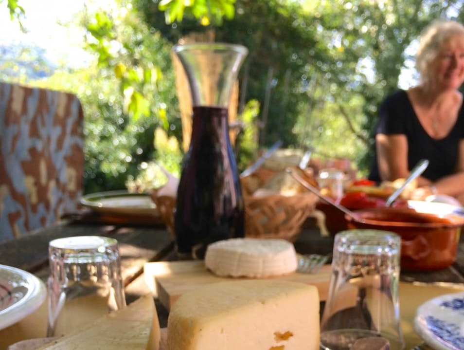Tasting authentic Italian cuisine at a cheesemaker's agriturismo. Picinisco  Italy