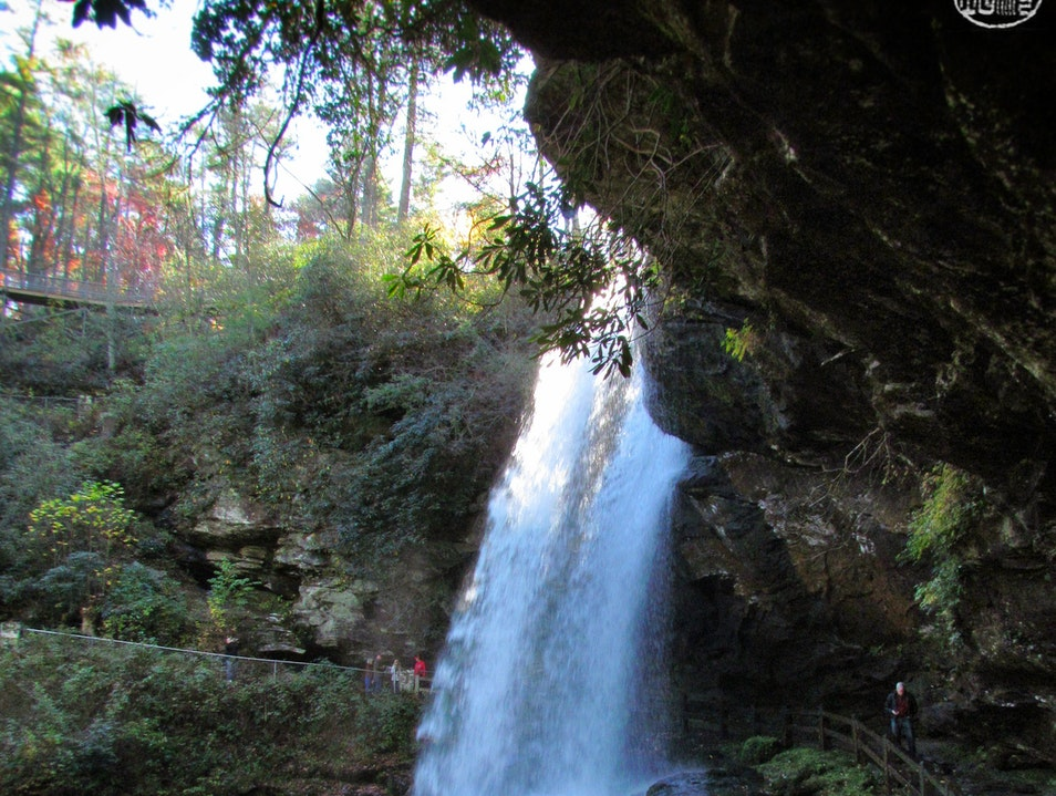 Get behind the waterfall... Highlands North Carolina United States