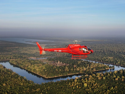 Angkor Archaeological Park Helicopter Ride Siem Reap  Cambodia