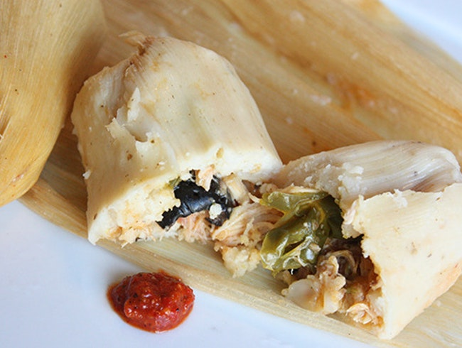 Chicken Tamales at Sutter Street Cafe