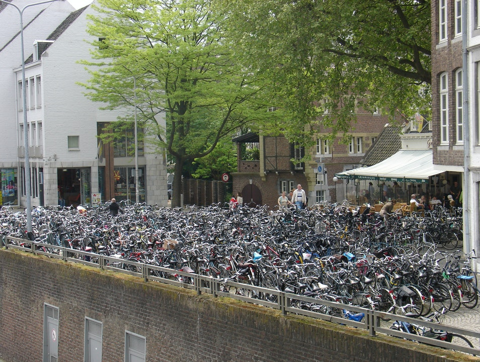 There's my bike!  The black one, in the middle! Maastricht  The Netherlands