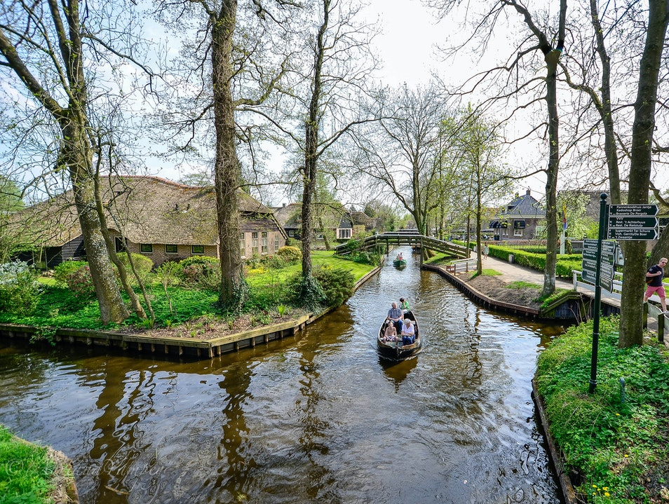 View from the bridge  Giethoorn  The Netherlands
