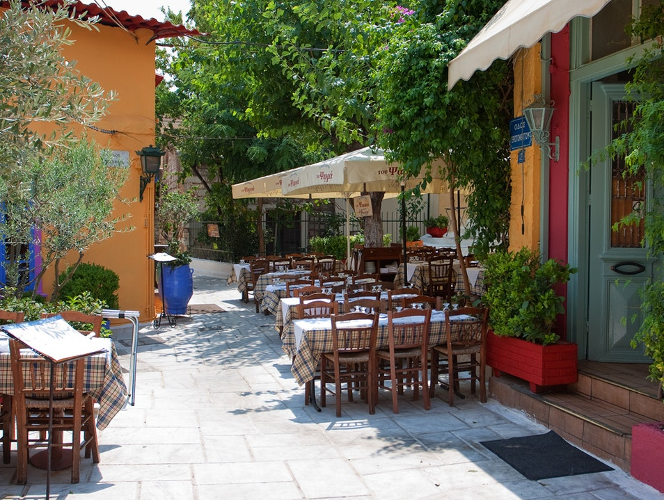 The Fisherman's Tavern in Anafiotika Athens  Greece