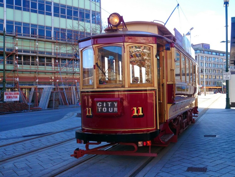 Ride in a Historic Tram Christchurch  New Zealand