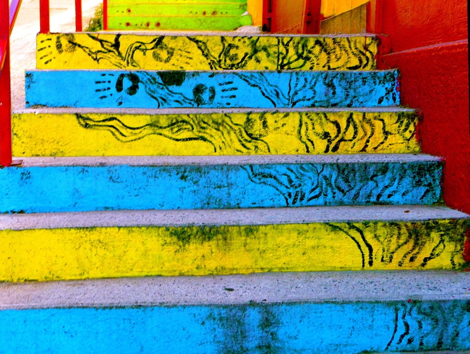 In Valparaiso, any flat surface is a potential canvas