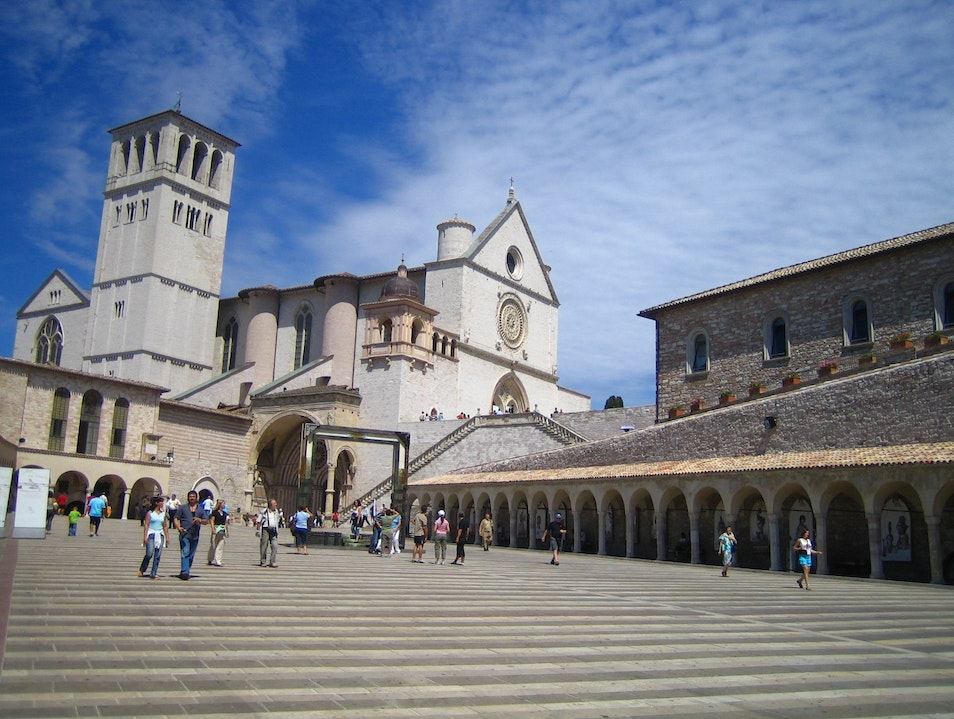 St Francis Church in Assisi Assisi  Italy