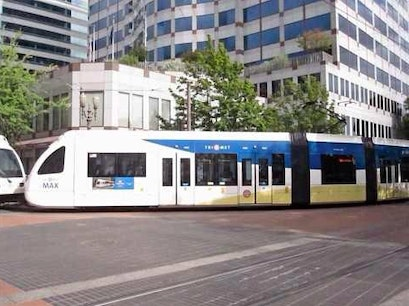 Trimet Light Rail Portland Oregon United States