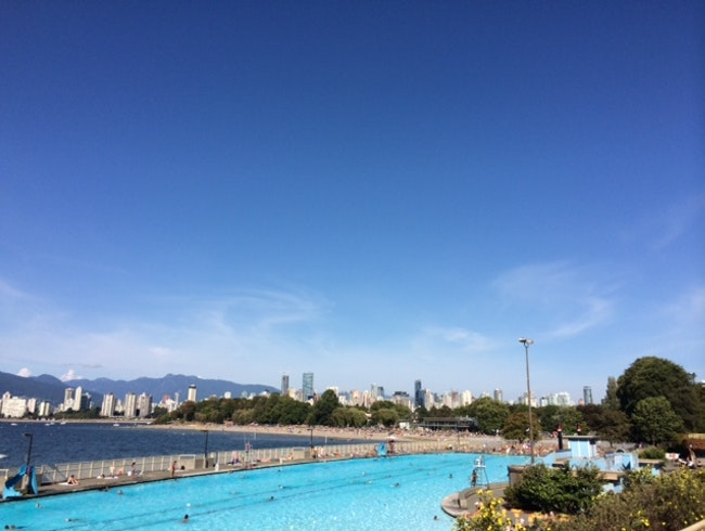 Go for a swim at North America's largest saltwater pool