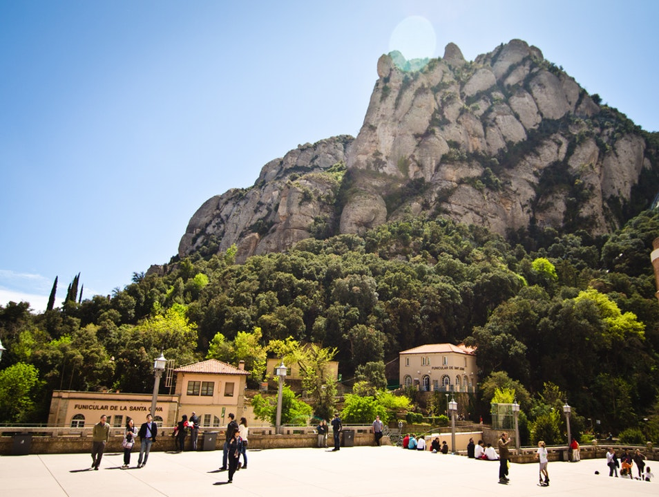 Up, up, and away at Montserrat Monestir de Montserrat  Spain
