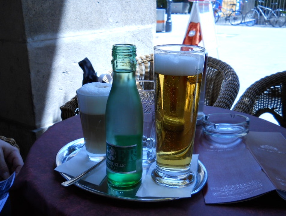 Refreshments at the Opera cafe Vienna  Austria