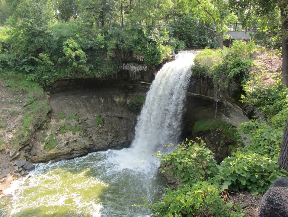 Mystical Falls at Minnehaha Park Minneapolis Minnesota United States
