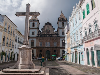 Church of São Francisco in Anchieta Plaza Salvador  Brazil