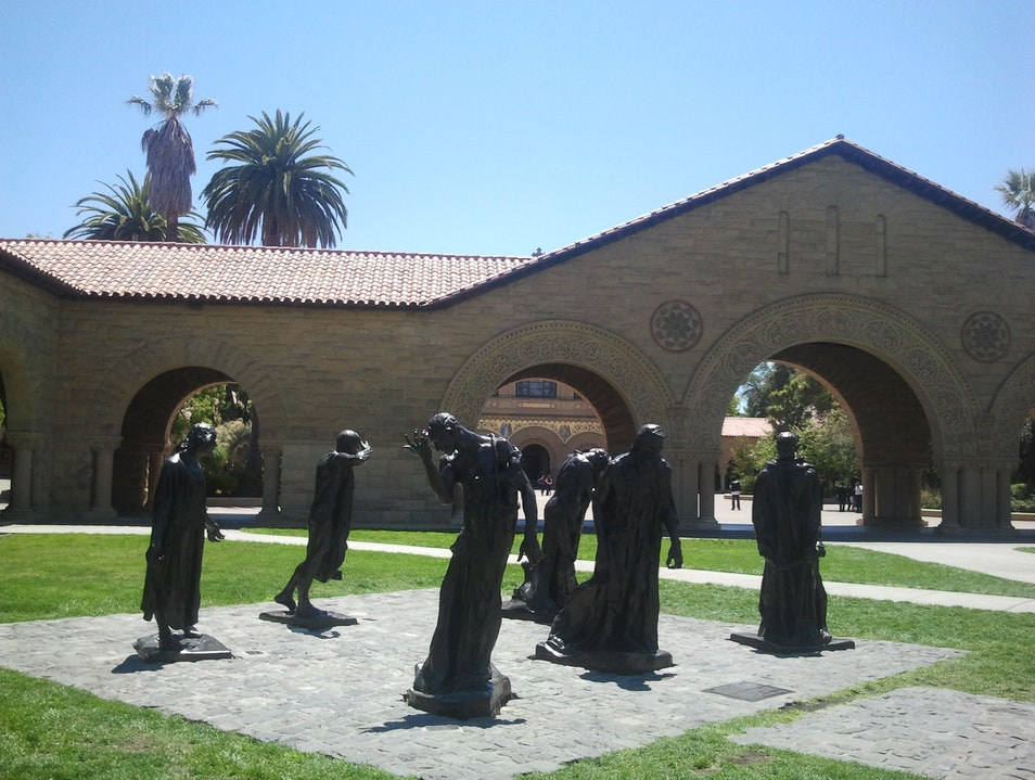 The Burghers of Calais at Stanford University