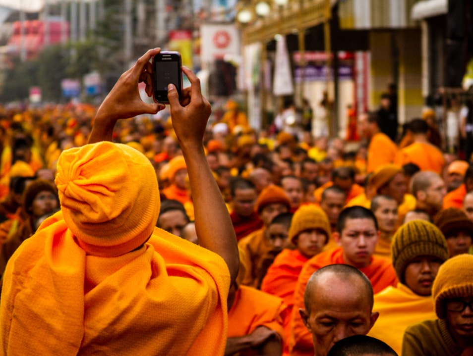 Gathering of 10,000 Monks Chiang Mai  Thailand