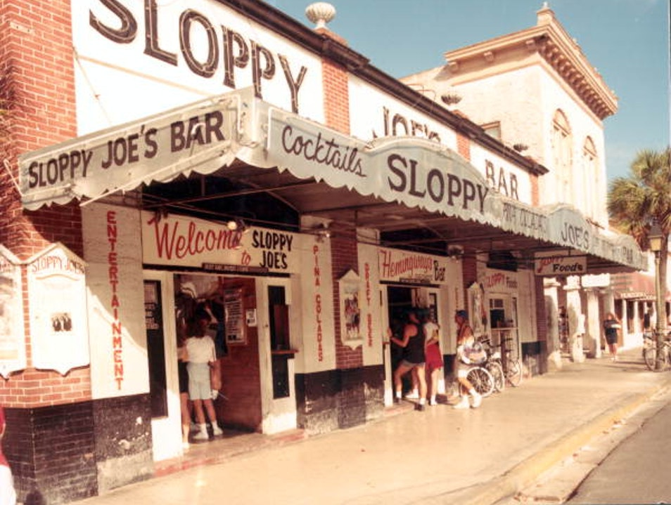 Dine with Ernest Hemingway at Sloppy Joe's Key West Florida United States