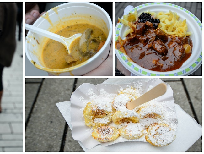 Street food at the Christmas market