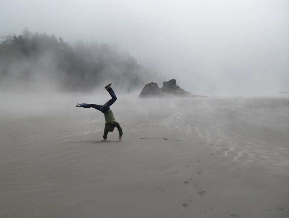 Cartwheel on Ruby Beach Forks Washington United States