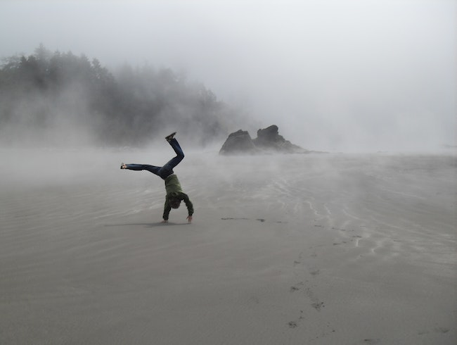 Cartwheel on Ruby Beach