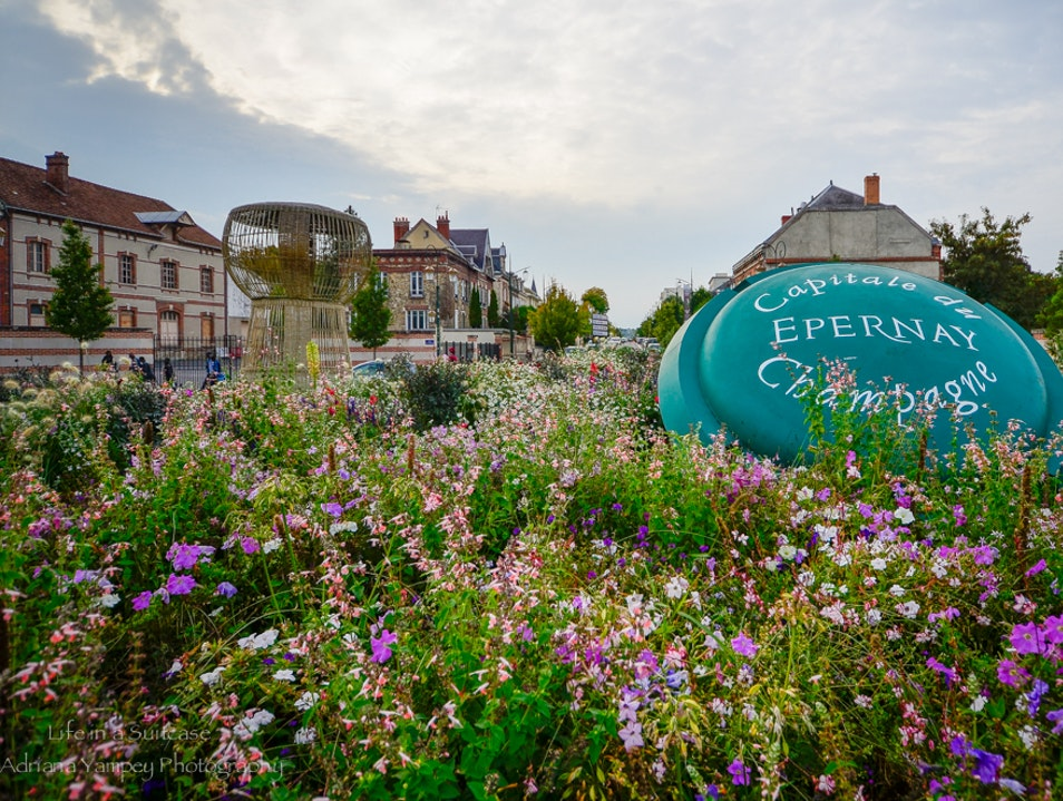 The capital of champagne  Épernay  France