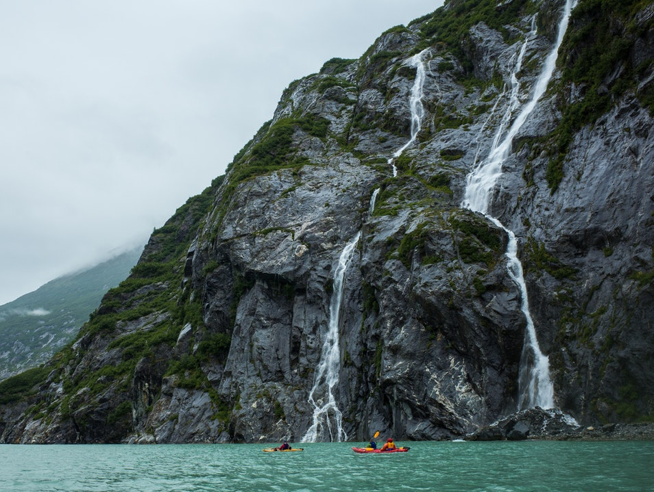 Kayaking and Camping in the Tracy Arm Fjord Elfin Cove Alaska United States