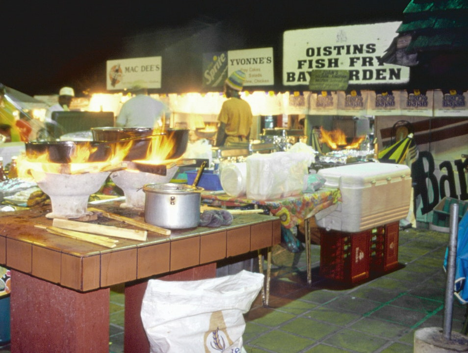 Oistins Fish Fry   Barbados