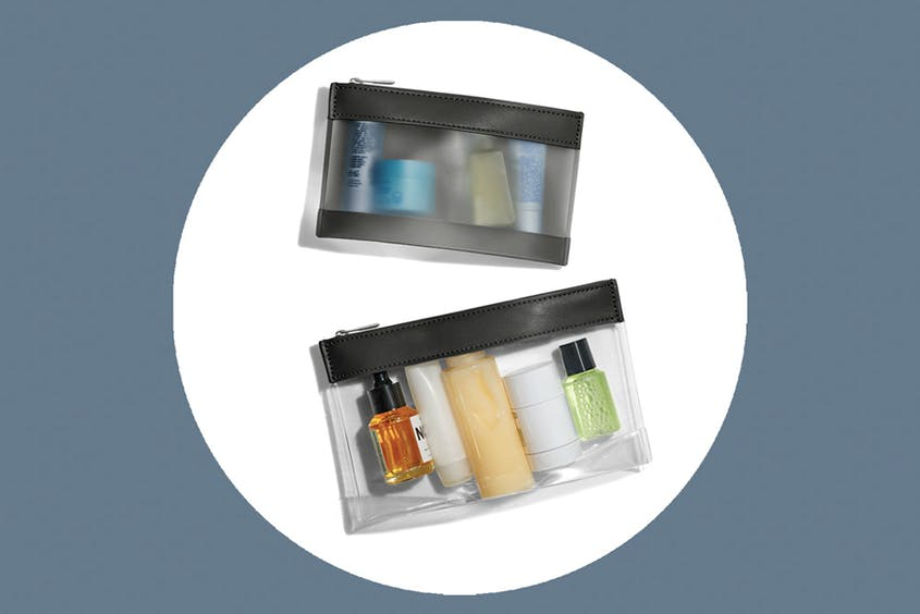 The Clear Pouch Set is available in Black and Coast.