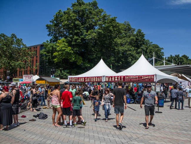 Browse the Stalls at the Portland Saturday Market