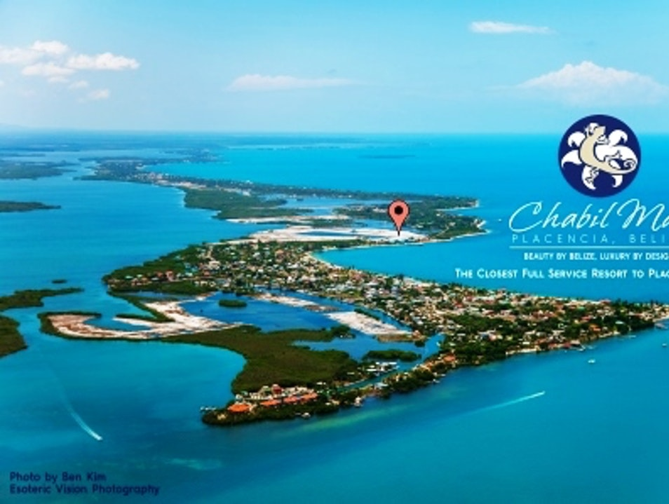 Aerial View of Placencia Village Placencia  Belize