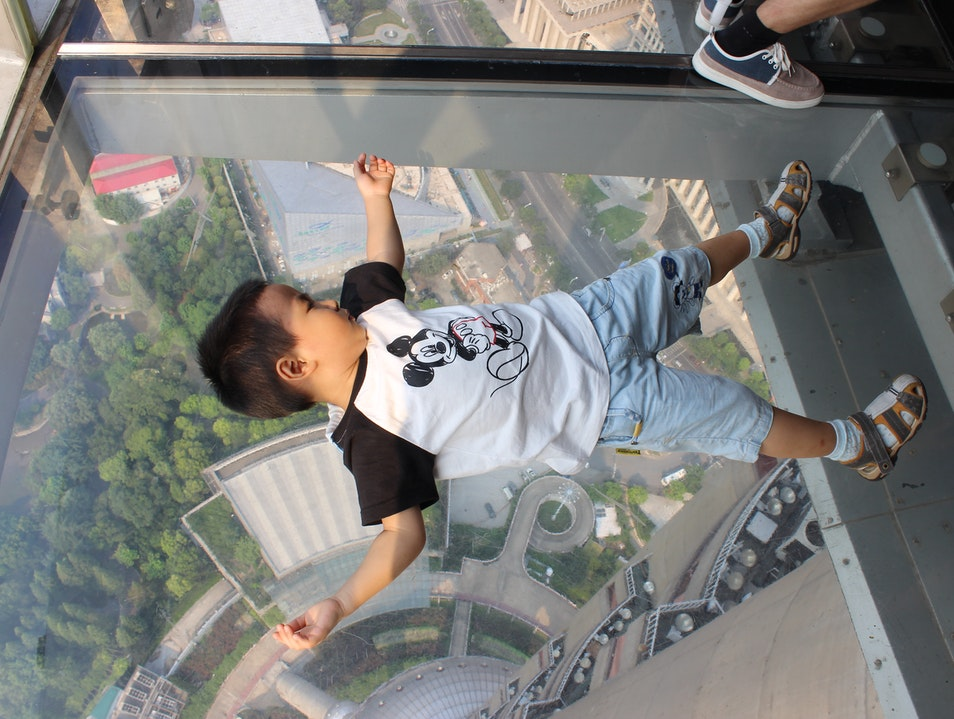 Don't look down, don't look down... Shanghai  China