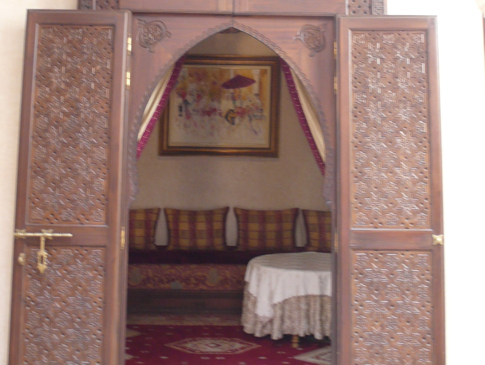 The doors to our room, Riad Kniza. Marrakech  Morocco