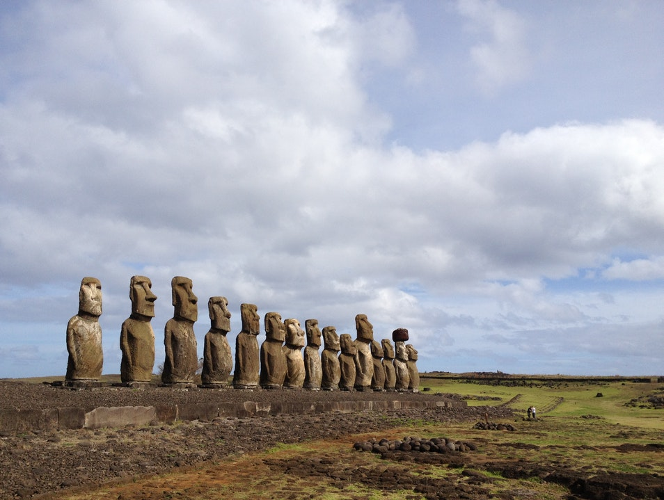 The Moai of Ahu Tongariki Isla de Pascua  Chile