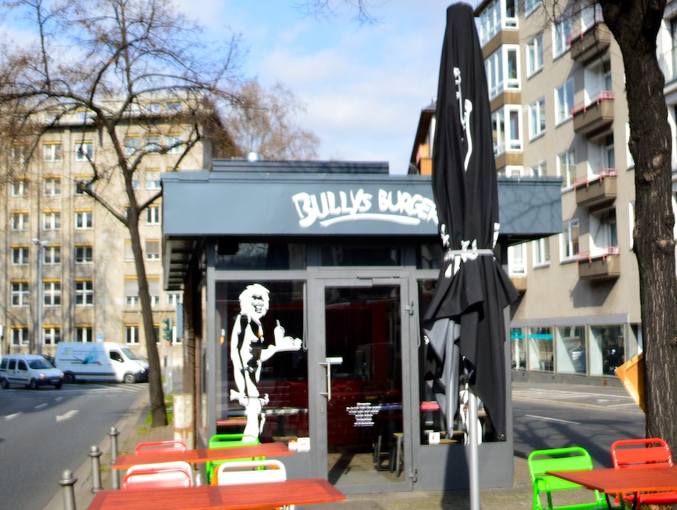 A Burger Joint on a Median Strip Mainz  Germany
