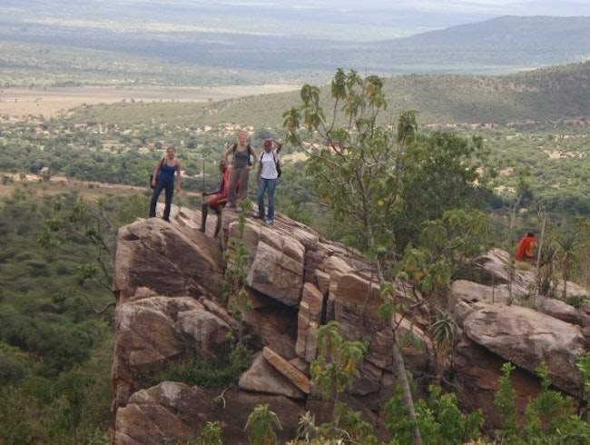 """Pride Rock"" on a hike with the Maasai Mara Tribesman"