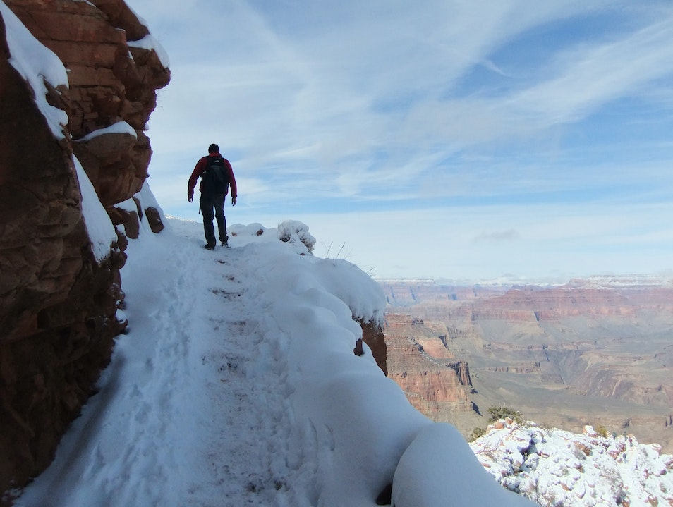 Ascending the South Kaibab Trail North Rim Arizona United States