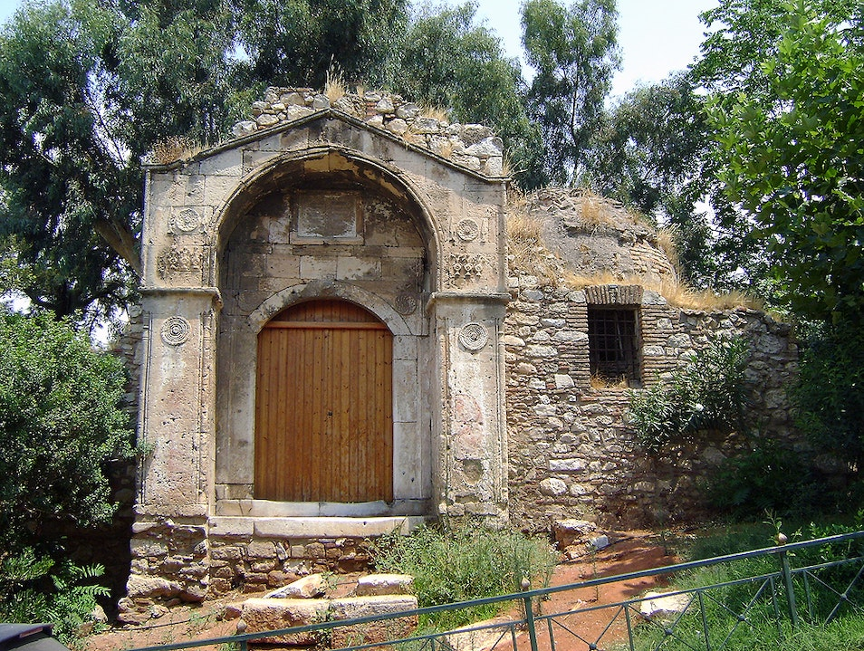 "The ruins of the ""Wheat Bazaar"" Athens  Greece"