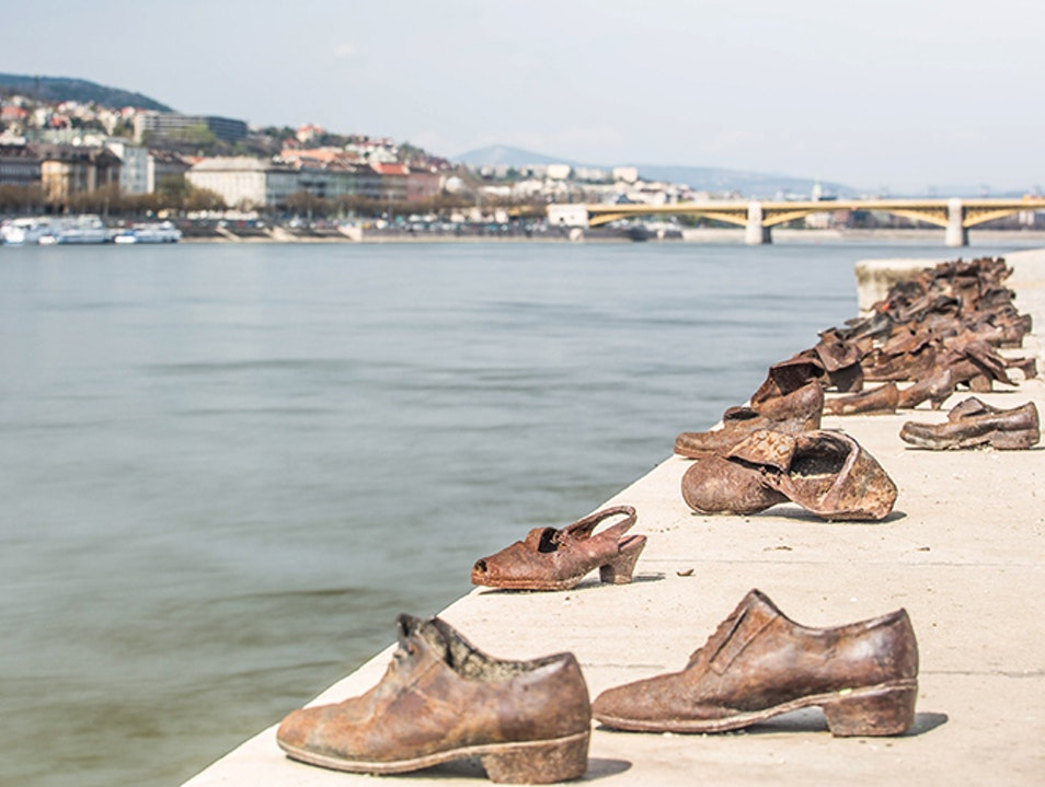 Shoes on the Danube Promenade Budapest  Hungary