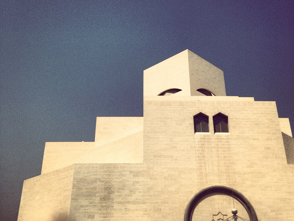 One of the last designs by I M PEI Doha  Qatar