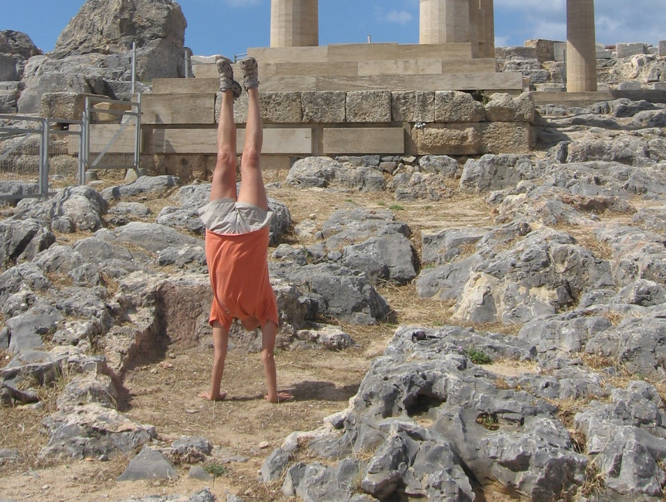 Seeing the ruins in Lindos Greece!