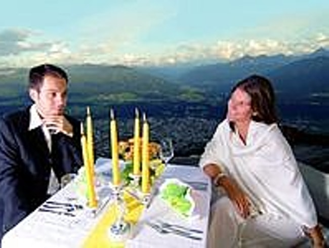 Dine high in the Austrian Alps