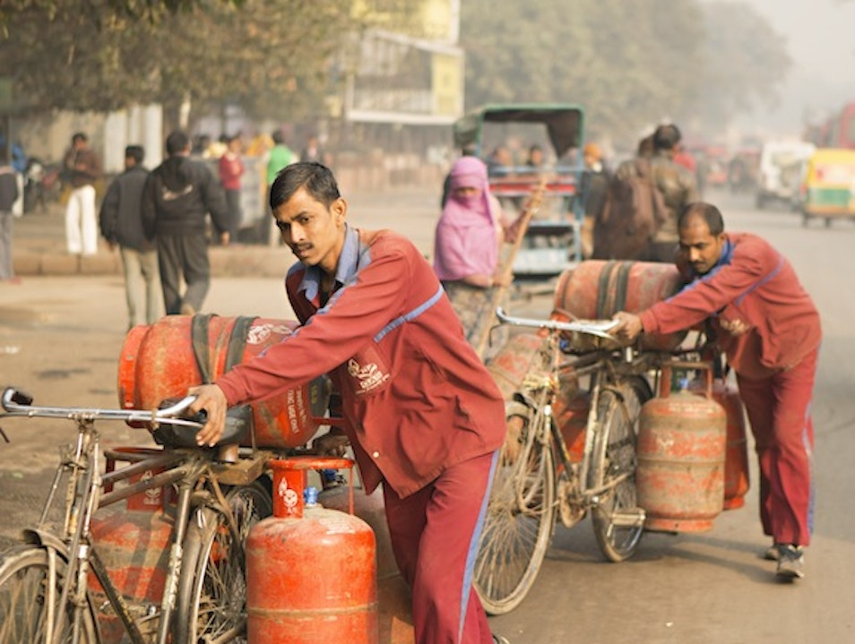 Transporting Gas on Bikes New Delhi  India