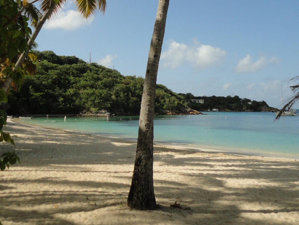 Deserted beach paradise St Thomas  United States Virgin Islands