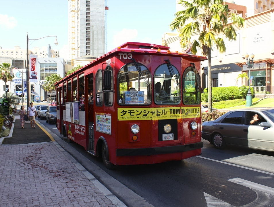 Catch a Ride on the Tumon Trolley