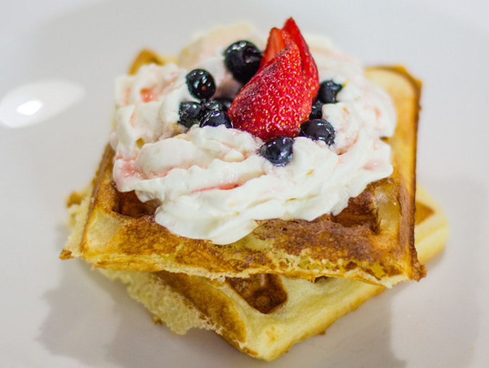 Go Wild For Whipped Cream Waffles