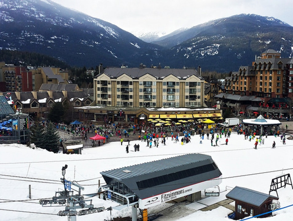 Skiing at Whistler-Blackcomb Whistler  Canada