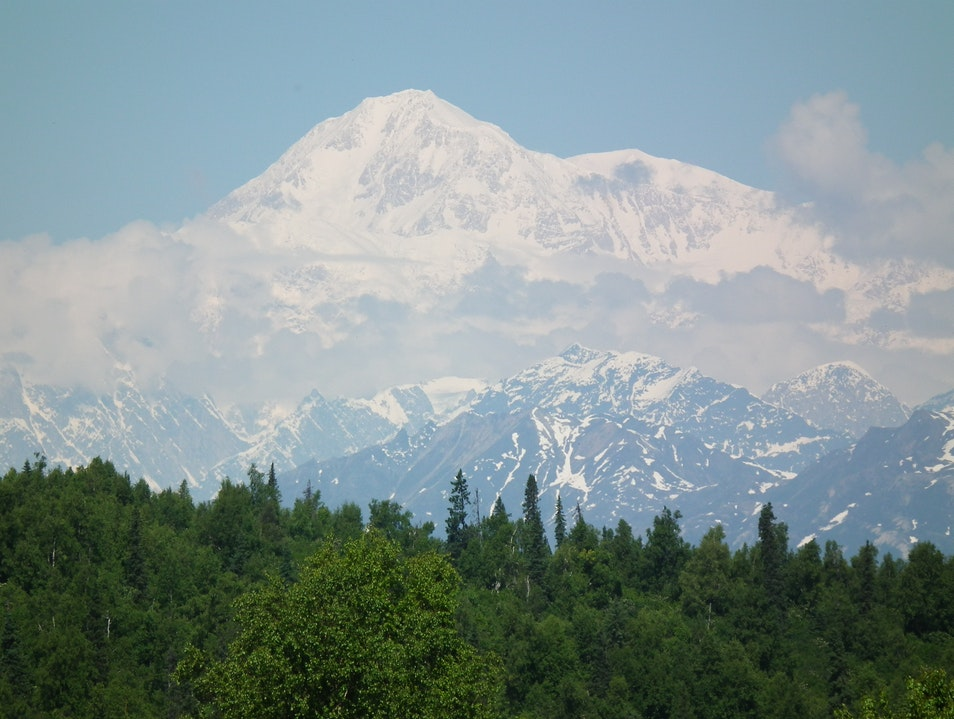 Mount McKinley on a perfect day! Denali National Park and Preserve Alaska United States