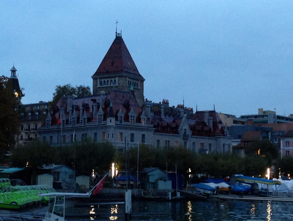 Chateau d'Ouchy Lausanne  Switzerland